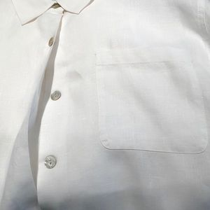 Beautiful linen long sleeve, button-up tunic